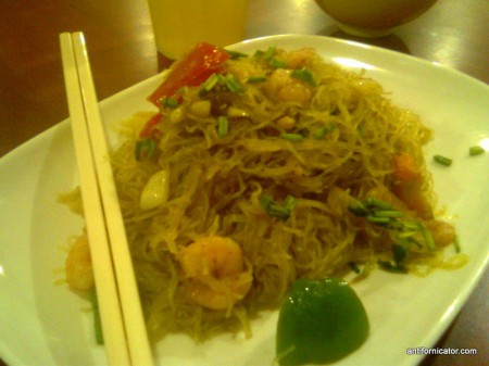 Singapore curry bihon from 101 Hawker Food House