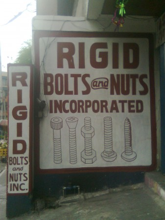 Rigid Bolts and Nuts