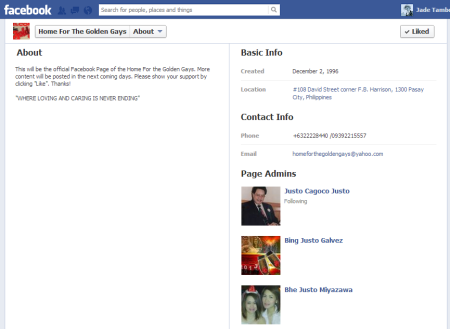 HGGI Facebook Profile 2013-01-21