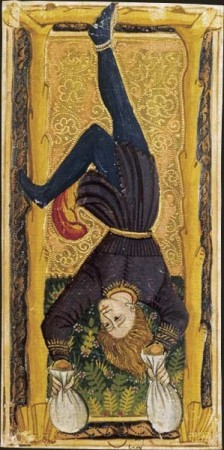 The Hanged Man from the 'Gringonneur' or 'Charles VI' Tarot