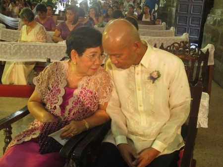Ma and Pa during my sister's wedding.