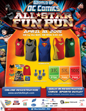 World of DC All Star Fun Run poster