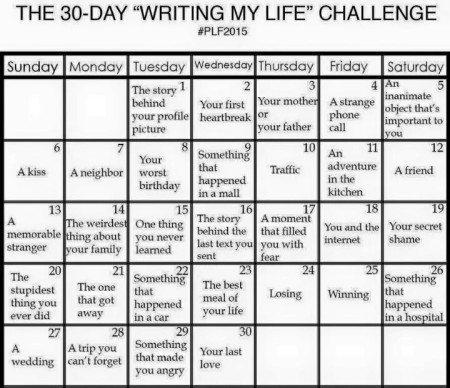 30-Day Writing Challenge