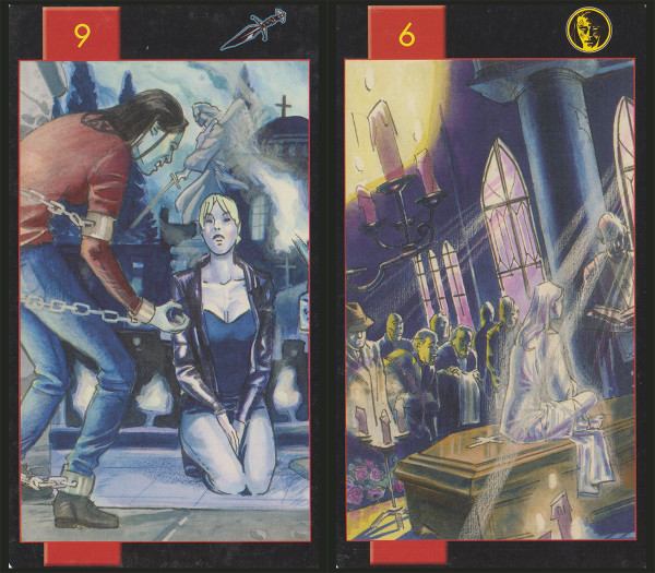 Halloween Reading - 9 of Swords, 6 of Coins